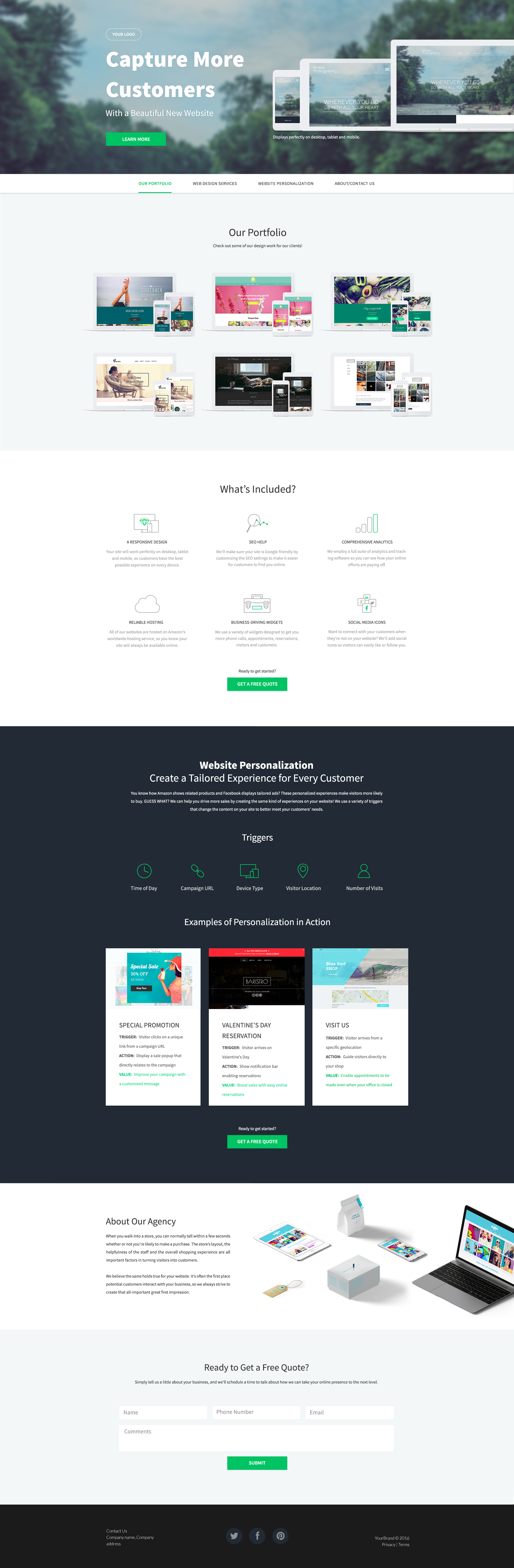 Buy Landing Pages Templates and WordPress Theme